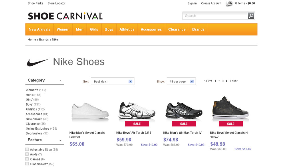 shoe carnival website