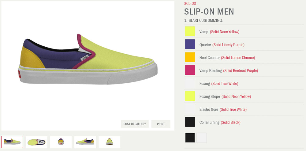 Make Your Own Vans Shoes Online
