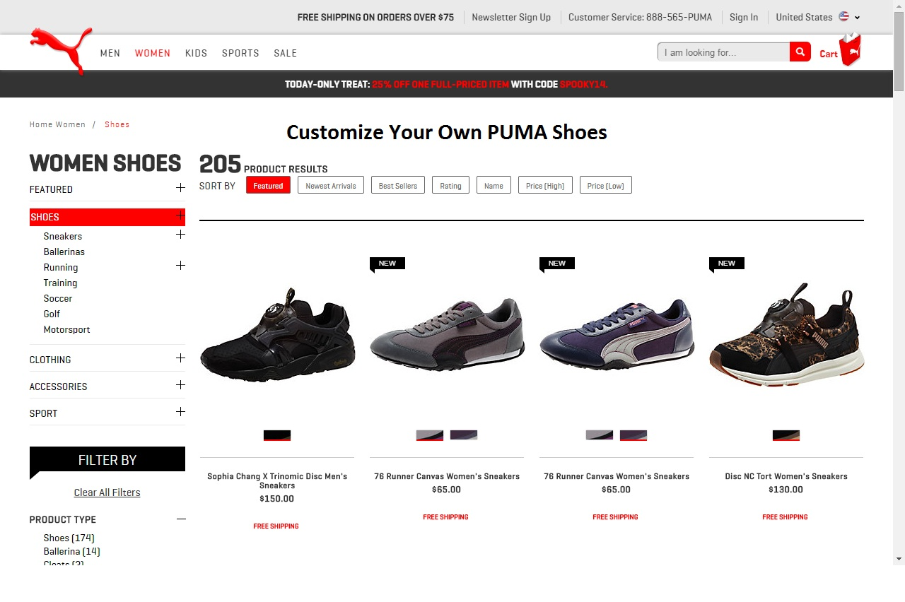 customize PUMA shoes